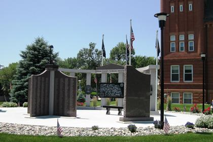 Front View of Memorial
