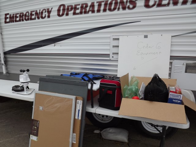 Operations trailer during demobilization