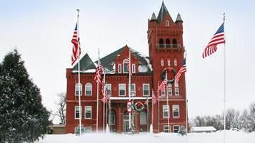 Wayne County Courthouse in Winter